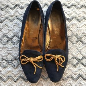 Joan & David Navy Loafers